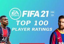 FIFA21 球员评分top100