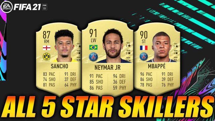 FIFA21 5星花式球员名单