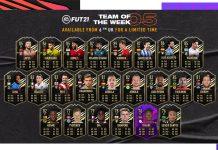 FIFA21 每周最佳阵容 TOTW5