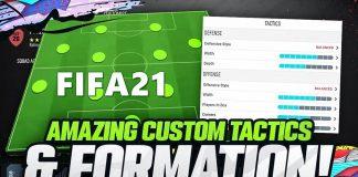 FIFA21 阵型指南和战术板设置