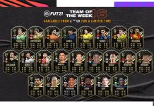 FIFA21 每周最佳阵容TOTW16