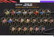 FIFA21每周最佳阵容TOTW17