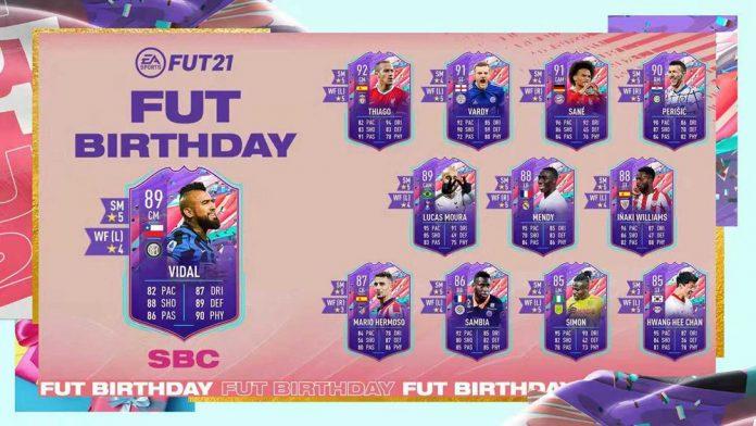 FIFA21 生日比达尔SBC作业