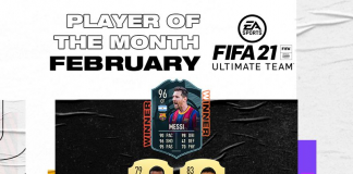 FIFA21 2月 potm 梅西