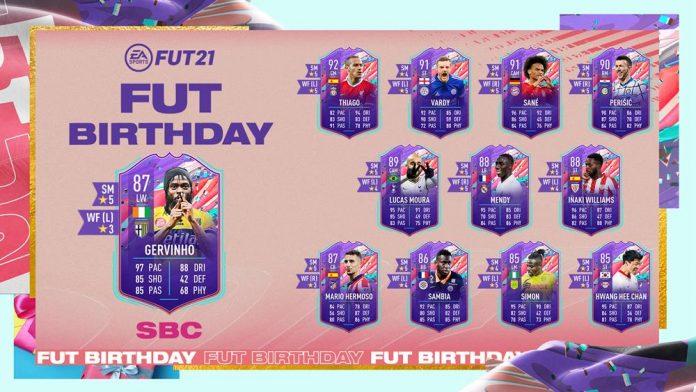 FIFA21 生日热尔维尼奥SBC作业
