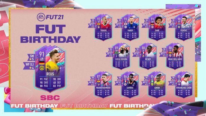 FIFA21 生日罗伊斯SBC作业